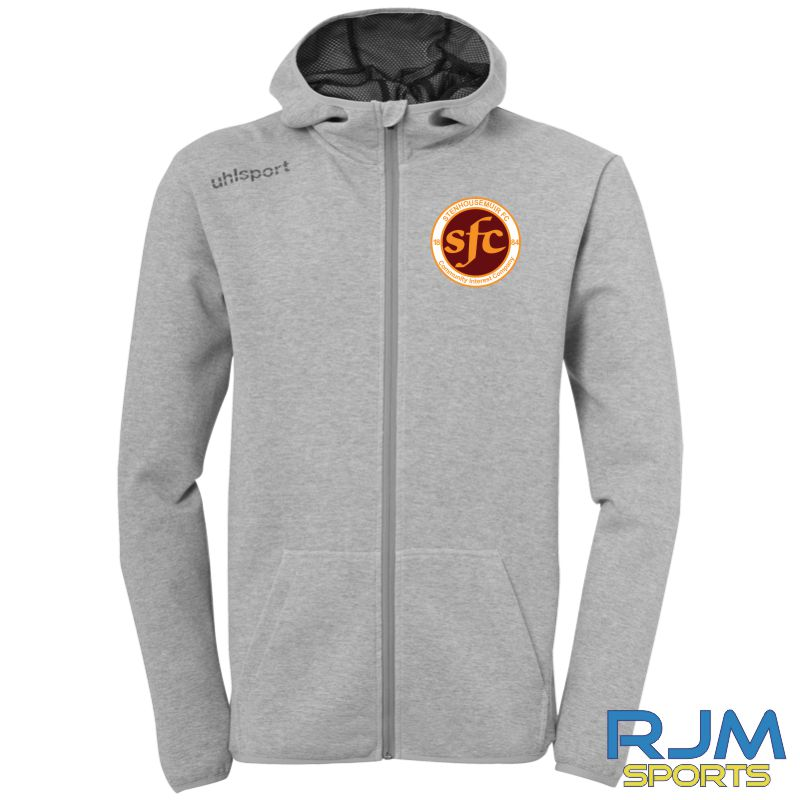 Stenhousemuir FC Uhlsport Essential Hood Jacket Dark Grey Melange
