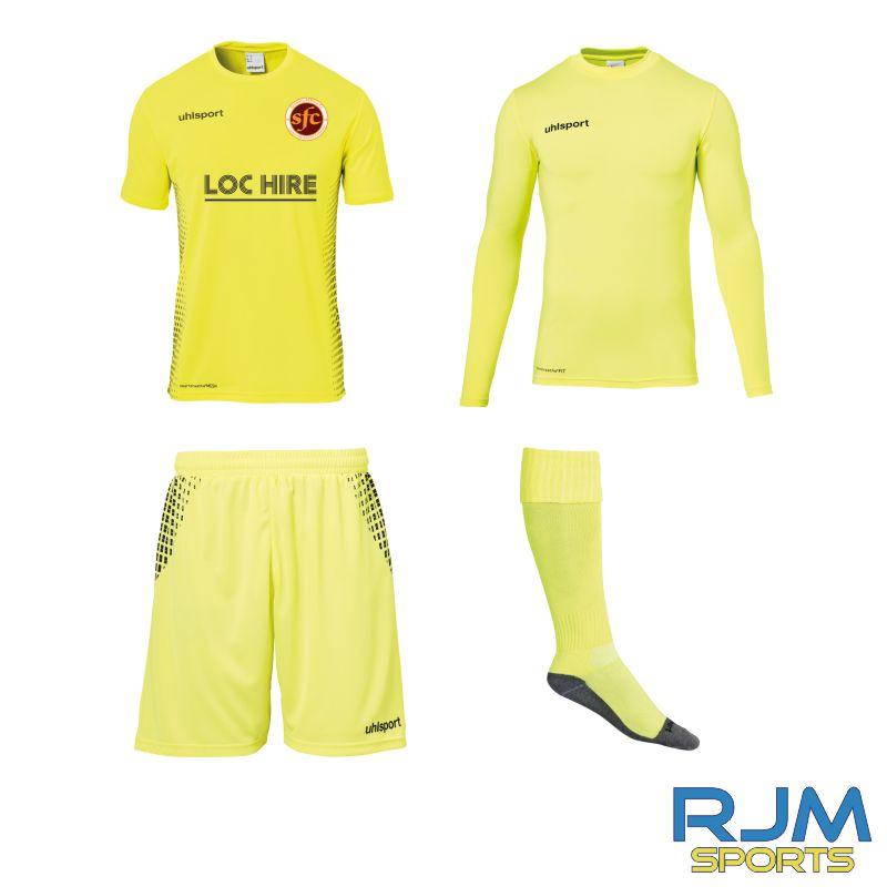 Stenhousemuir FC Uhlsport GK Score Set Fluo Yellow/Black