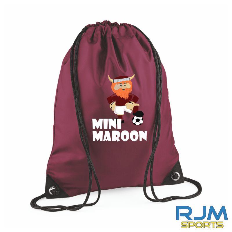 WITC Mini Maroons Drawstring Bag Burgundy