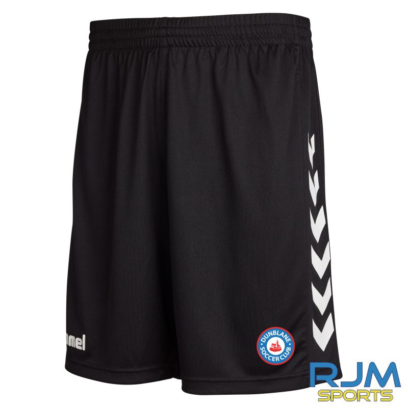 Dunblane Soccer Club Hummel Away Core Poly Shorts Black
