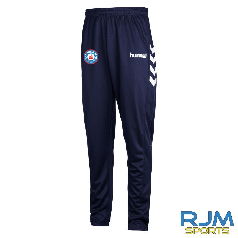 Dunblane Soccer Club Hummel Core Poly Pant Marine White