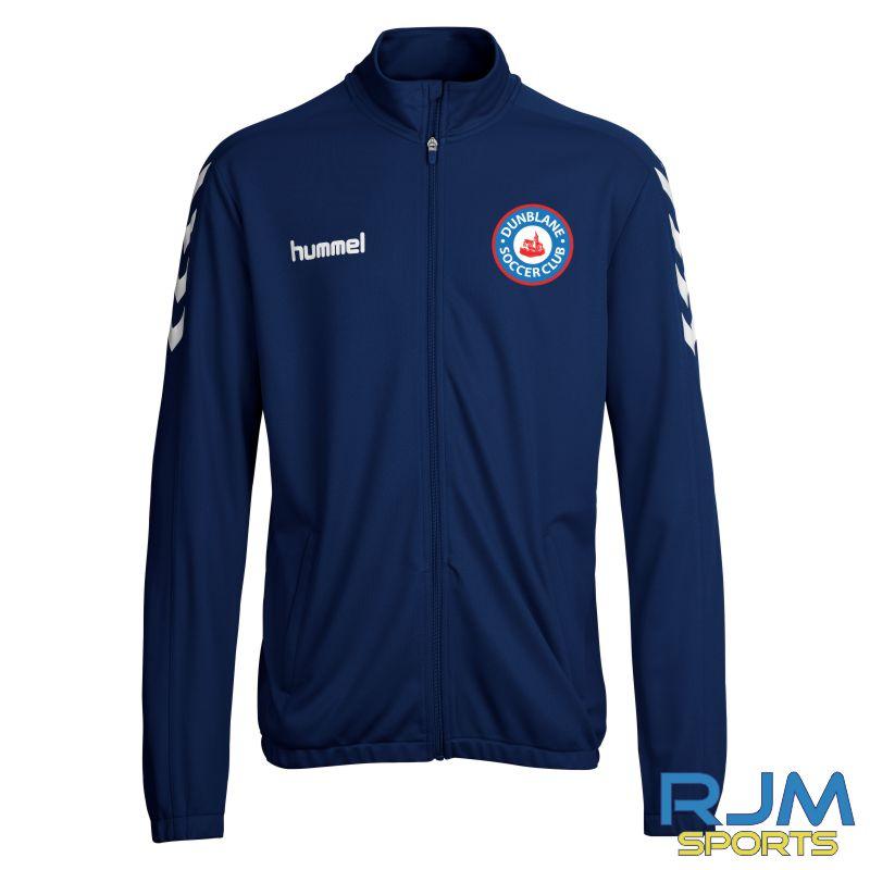 Dunblane Soccer Club Hummel Core Poly Jacket Marine White