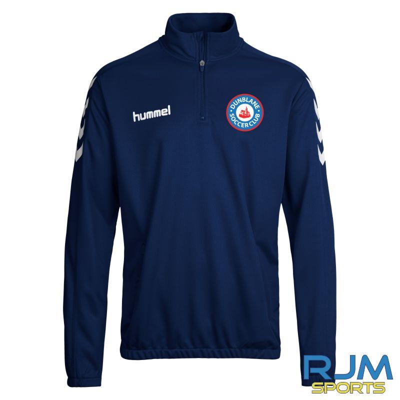 Dunblane Soccer Club Hummel Core 1/2 Zip Marine White