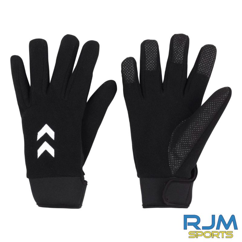 Dunblane Soccer Club Hummel Cold Winters Player Glove Black