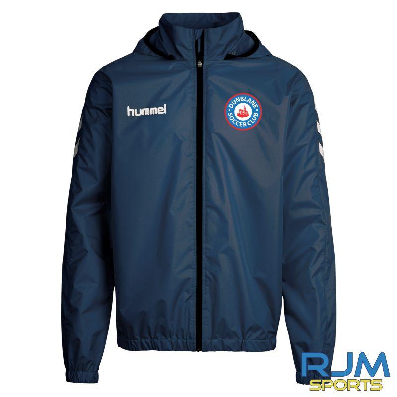 Dunblane Soccer Club Hummel Core Spray Rain Jacket Marine White