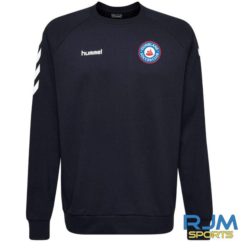 Dunblane Soccer Club Hummel Go Cotton Sweatshirt Marine