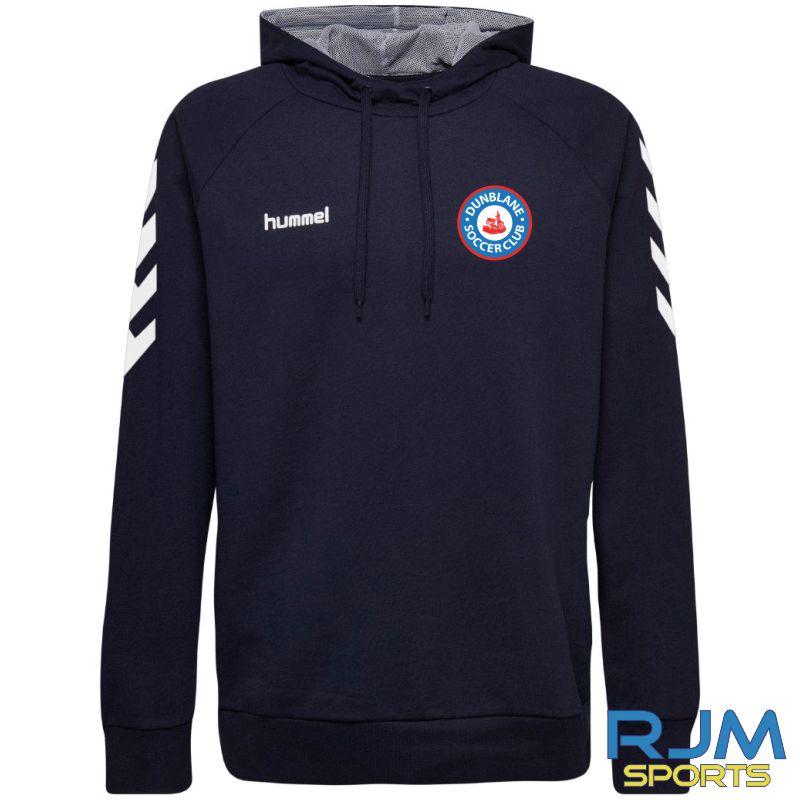 Dunblane Soccer Club Hummel Go Cotton Hoodie Marine