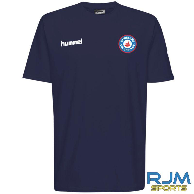 Dunblane Soccer Club Hummel Go Cotton T-Shirt S/S Marine