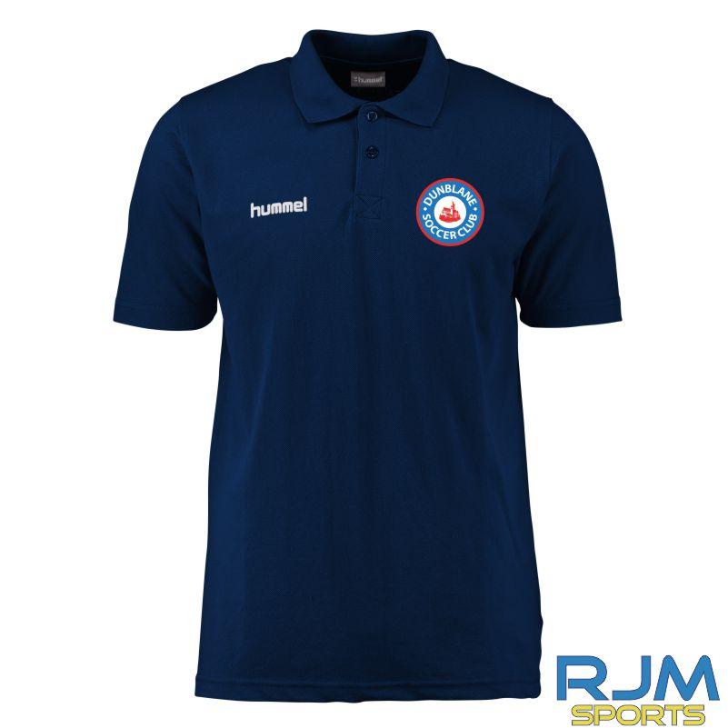 Dunblane Soccer Club Hummel Core Hybrid Polo Marine White