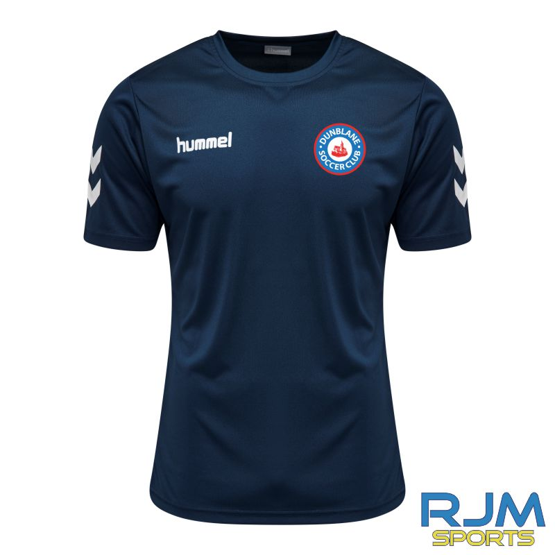 Dunblane Soccer Club Hummel Core Hybrid Solo Jersey Marine White