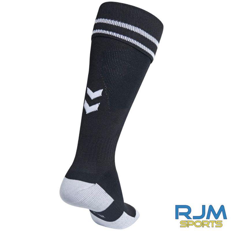 Dunblane Soccer Club Hummel Away Element Football Socks Black White