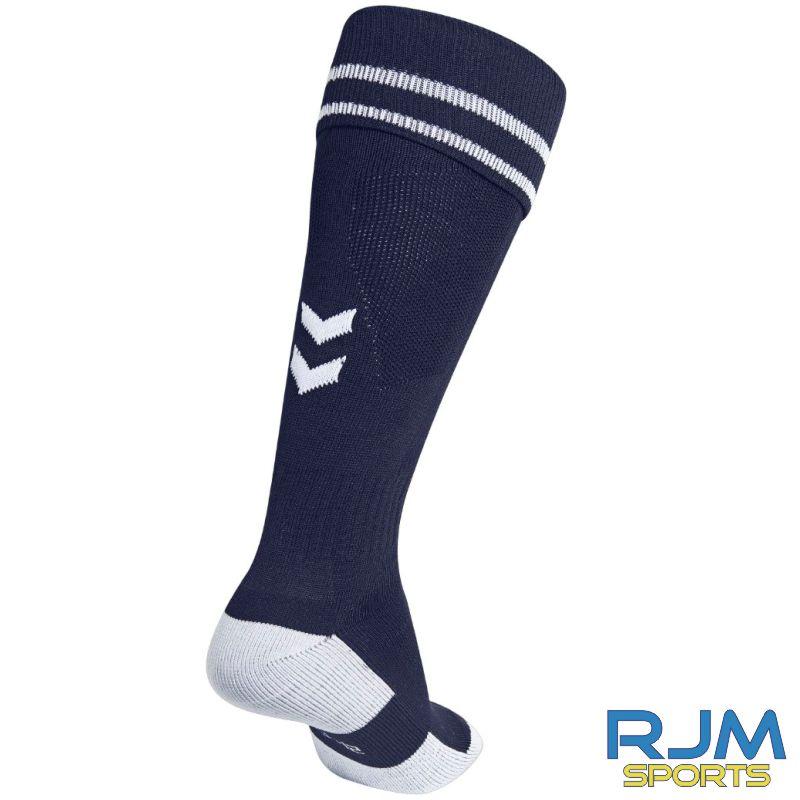 Dunblane Soccer Club Hummel Home Element Football Socks Marine White
