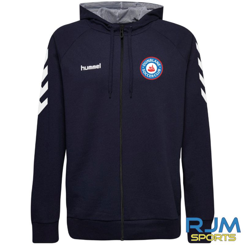 Dunblane Soccer Club Hummel Go Cotton Zip Hoodie Marine