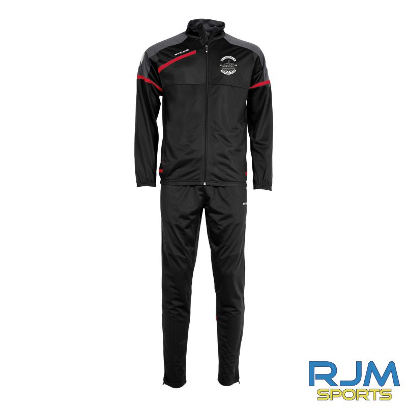 Dunipace FC Stanno Prestige Polyester Tracksuit Black Red