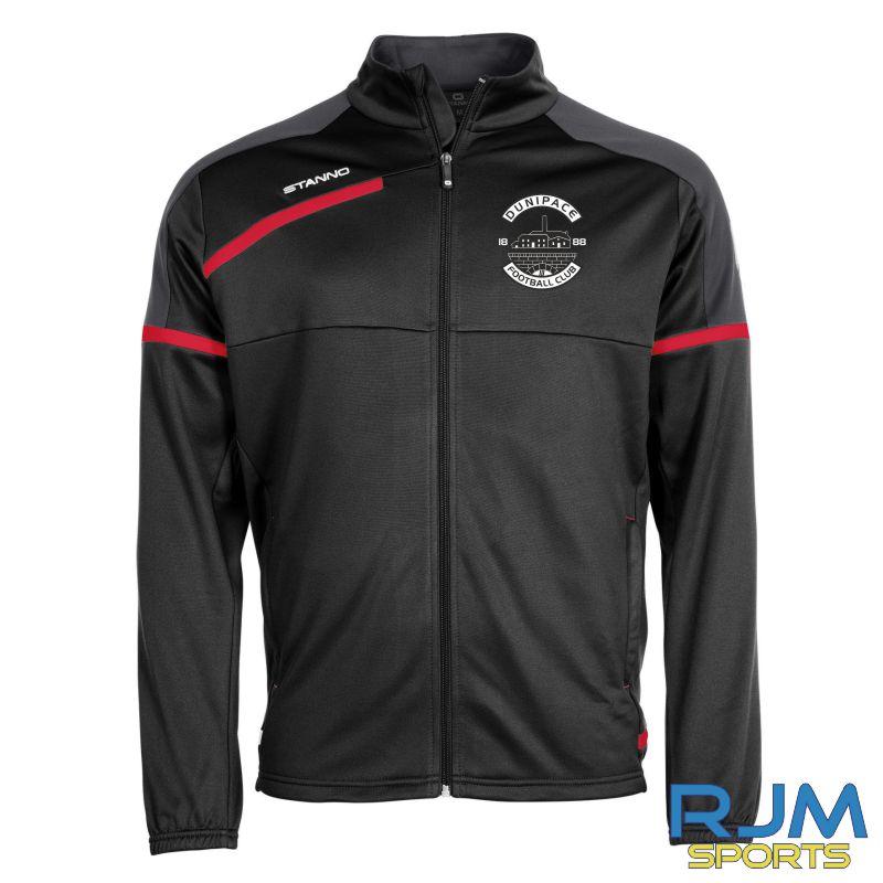 Dunipace FC Stanno Prestige TTS Jacket Black Red
