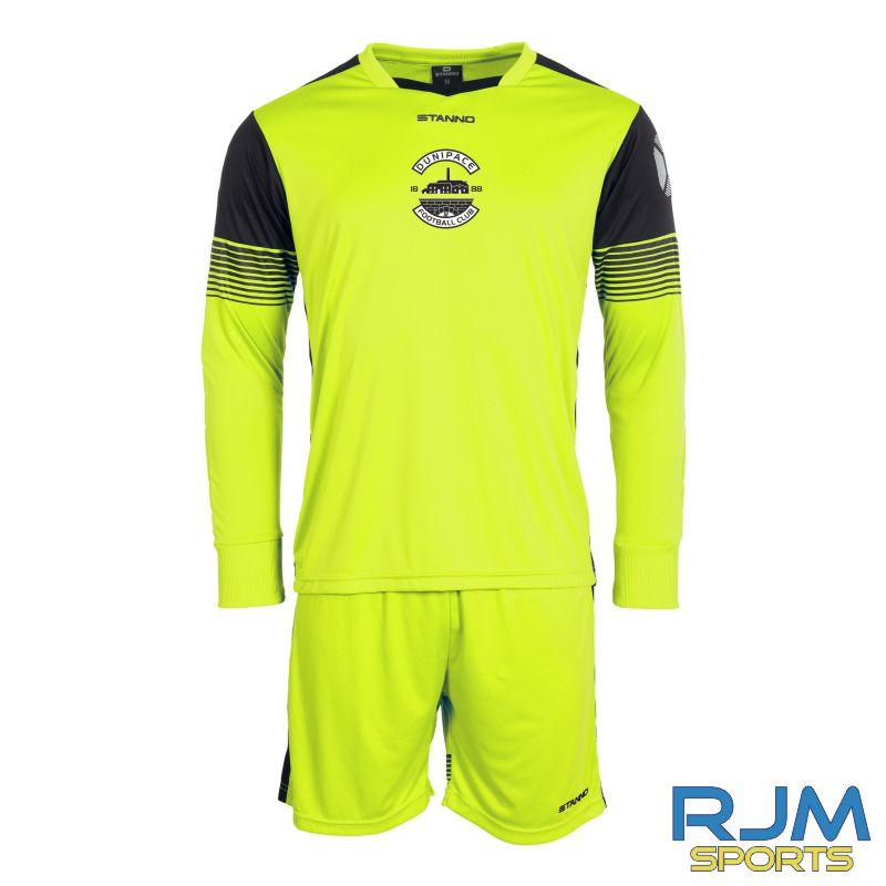 Dunipace FC Stanno Nitro GK Set Neon Yellow Black