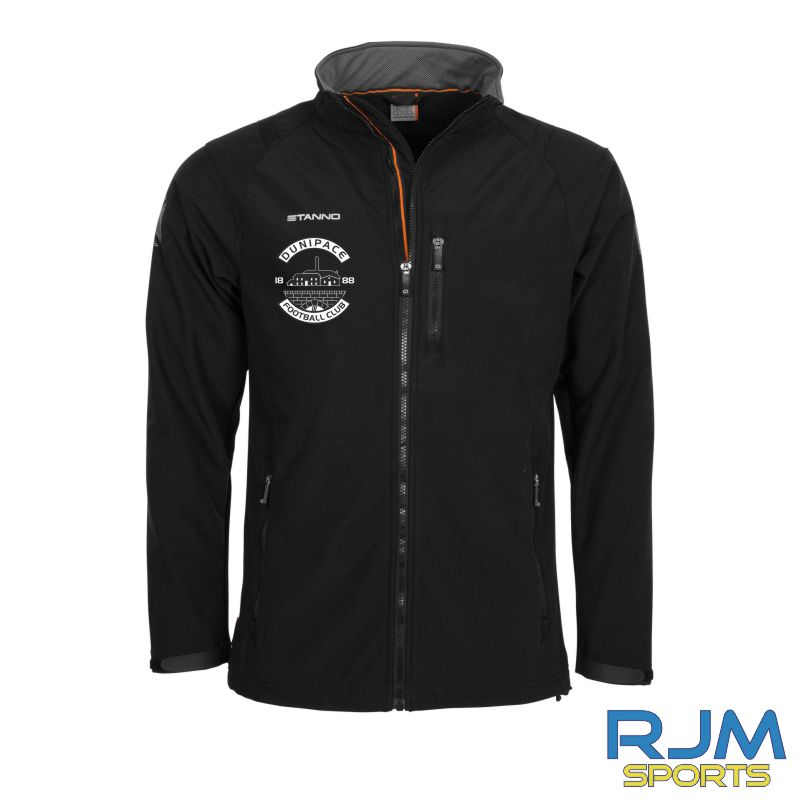 Dunipace FC Stanno Centro Soft Shell Jacket Black