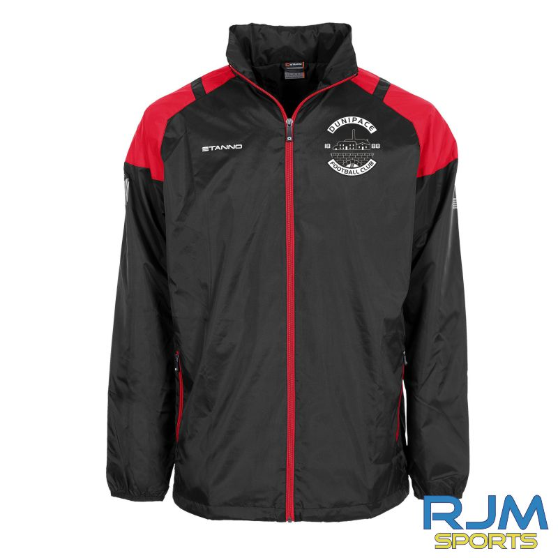 Dunipace FC Stanno Centro All Weather Jacket Black Red