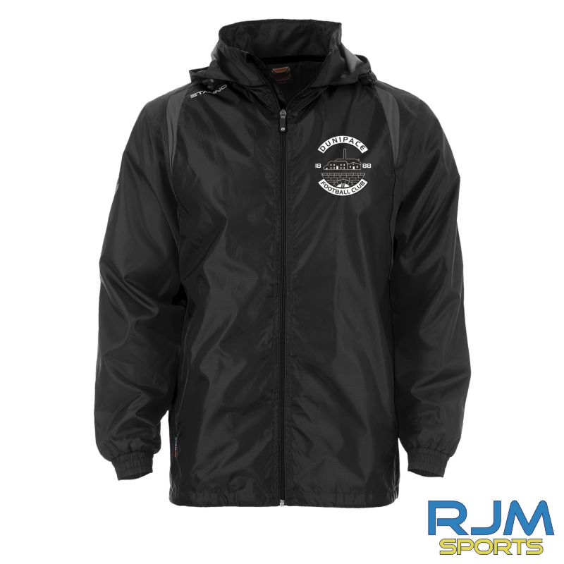 Dunipace FC Stanno Centro Windbreaker Jacket Black Anthracite