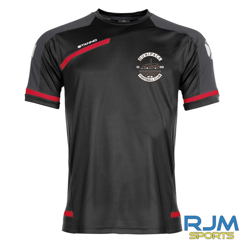 Dunipace FC Stanno Prestige Short Sleeve T-Shirt Black Red