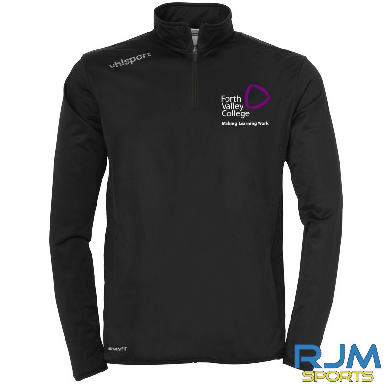 Forth Valley College Uhsport Essential 1/4 Zip Top Black