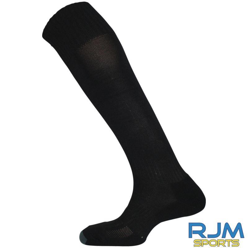 Gairdoch United Mitre Mercury Plain Home Socks Black