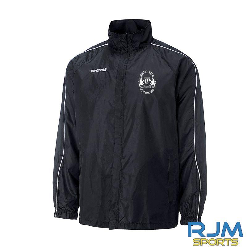 Gairdoch United Errea Basic Rain Jacket Black