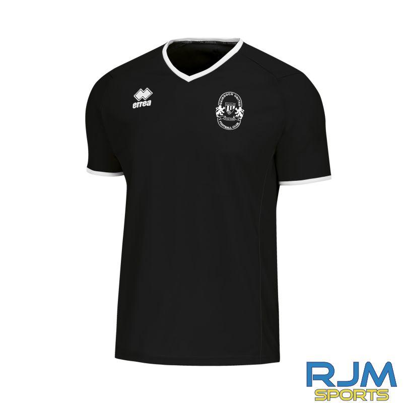Gairdoch United Errea Lennox Short Sleeve Training Shirt Black