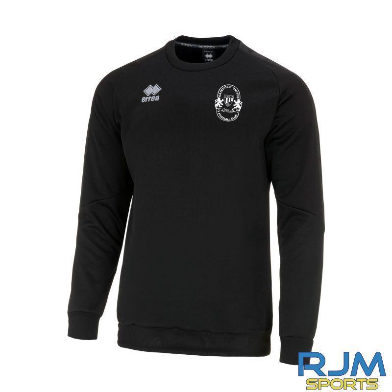 Gairdoch United Errea Spirit Training Sweatshirt Black