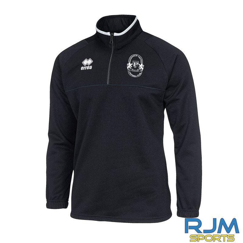 Gairdoch United Errea Mansel 3.0 Quarter Zip Black