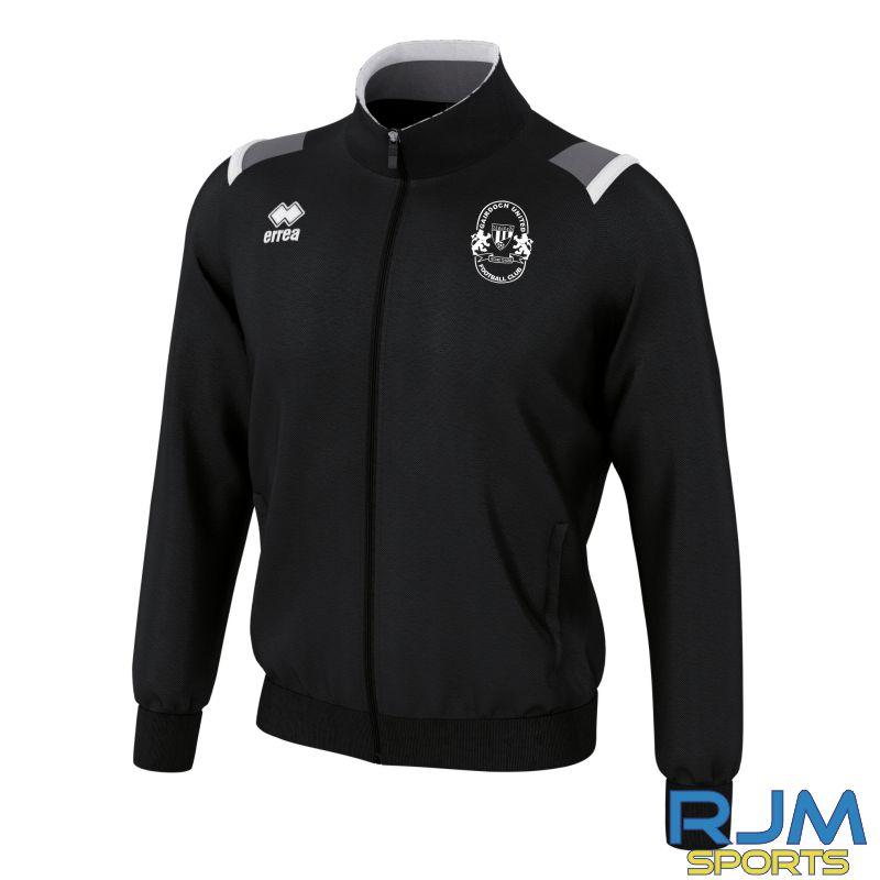 Gairdoch United Errea Lou Full-Zip Tracksuit Jacket Black/White