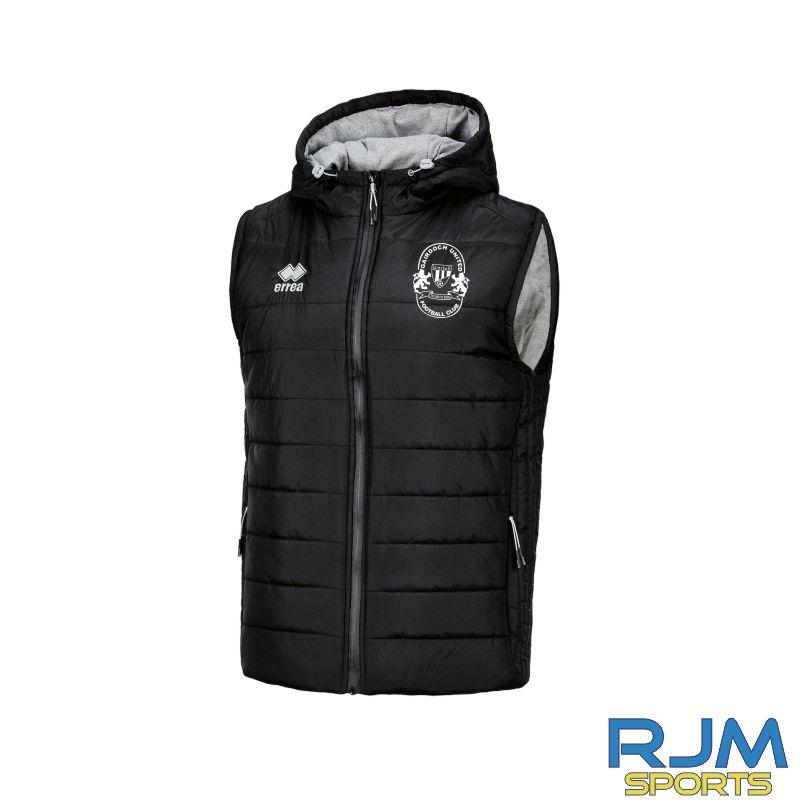 Gairdoch United Errea Bjorn Body Warmer Jacket Black