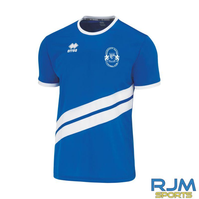 Gairdoch United Errea Jaro Short Sleeve Away Shirt Blue