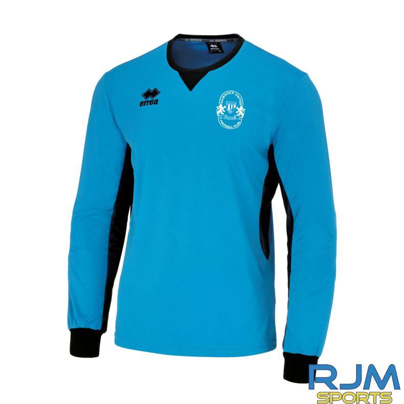 Gairdoch United Errea Simon Goalkeeper Shirt Cyan/Black