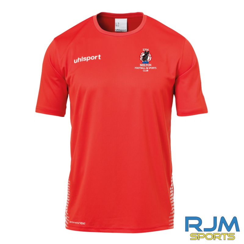 Milton FC Uhlsport Score Training T-Shirt Red