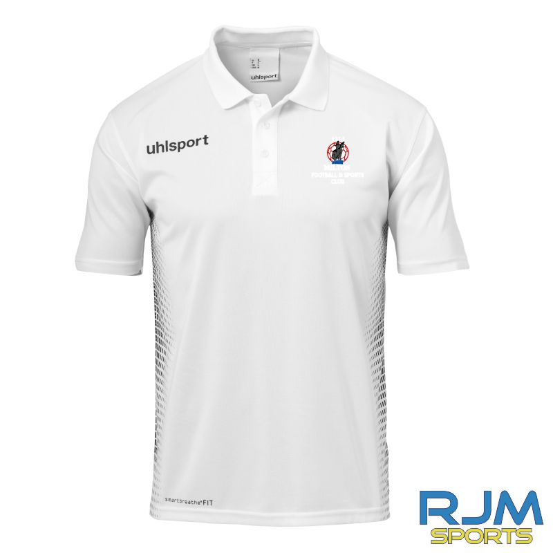 Milton FC Uhlsport Score Polo Shirt Azure White/Black