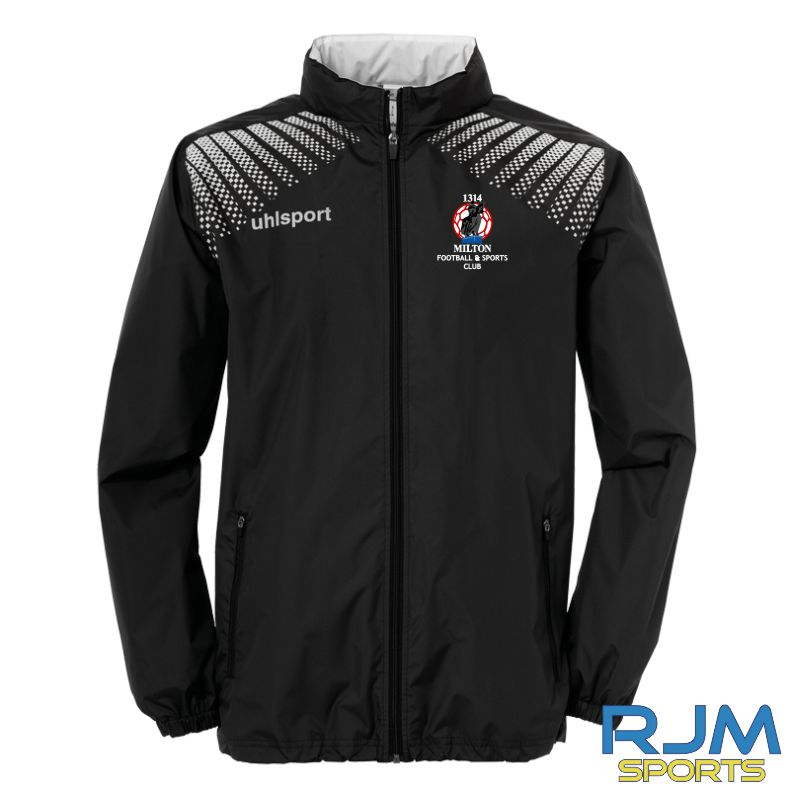 Milton FC Uhlsport Goal Coaches Rain Jacket Black/White