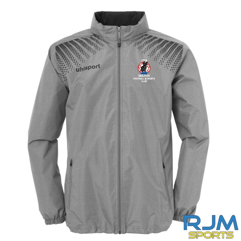 Milton FC Uhlsport Goal Coaches Rain Jacket Grey/Black
