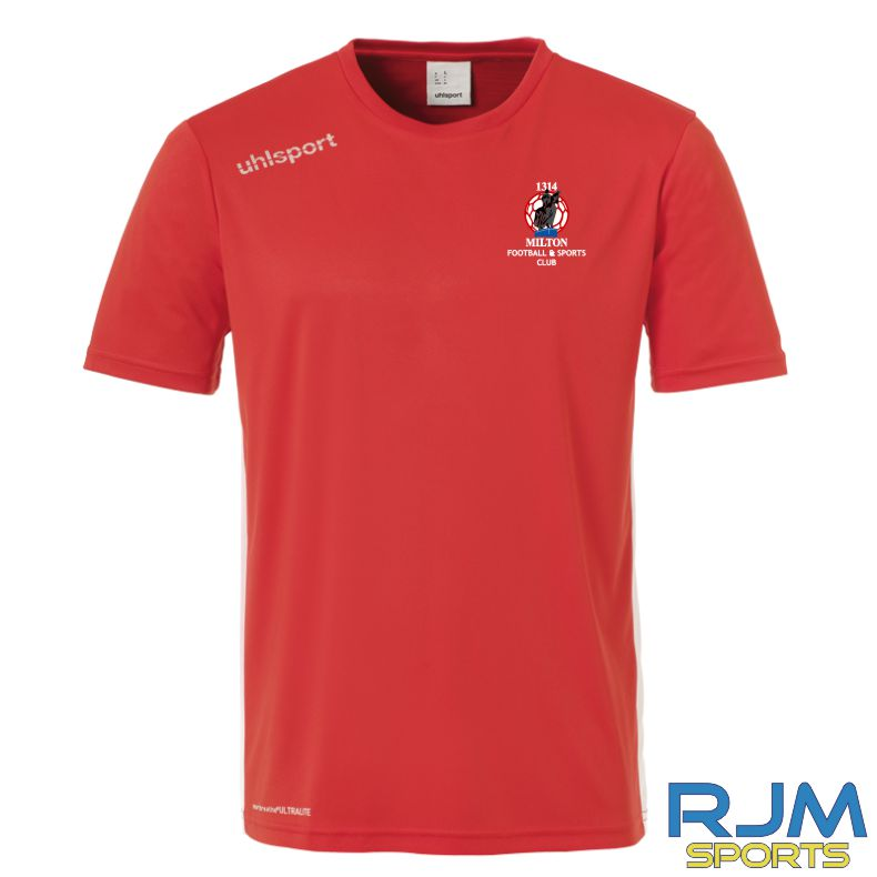 Milton FC Uhlsport Essential T-shirt Red/White