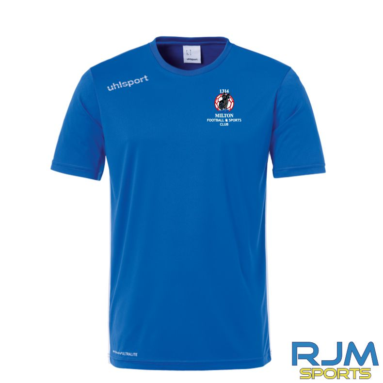 Milton FC Uhlsport Essential T-shirt Azure Blue/White
