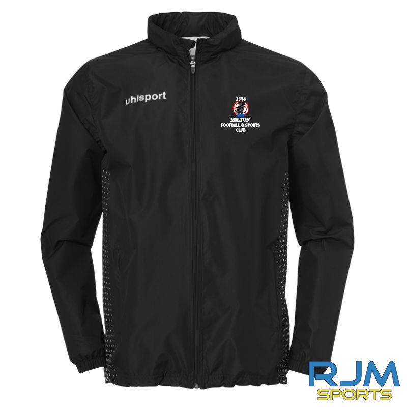 Milton FC Uhlsport Score Rain Jacket Black/White