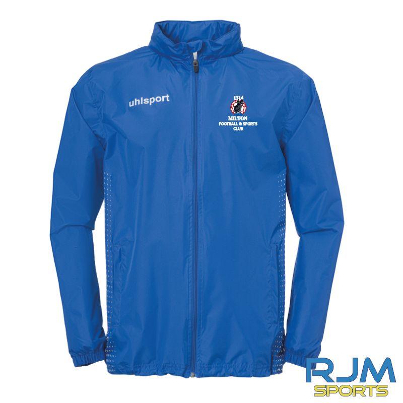 Milton FC Uhlsport Score Rain Jacket Azure/White