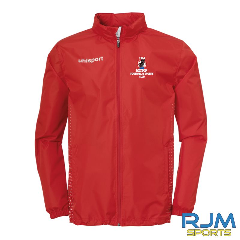 Milton FC Uhlsport Score Rain Jacket Red/White