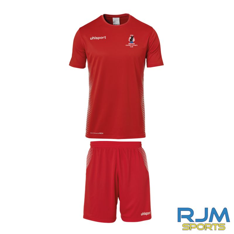 Milton FC Uhlsport Away Score Set Red/White