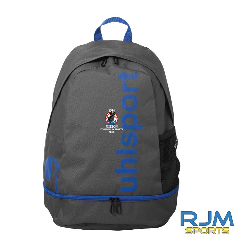 Milton FC Uhlsport Essential Backpack Anth/Azure Blue