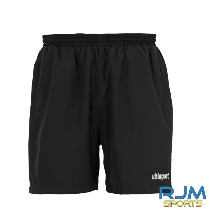 Milton FC Uhlsport Essential Coaches Woven Shorts Black