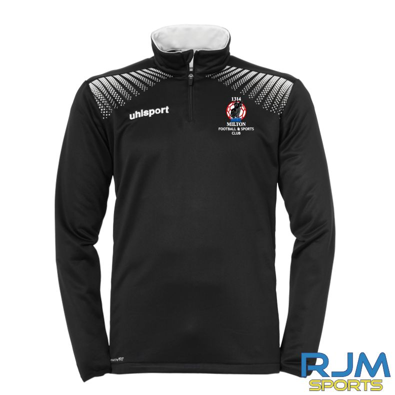 Milton FC Uhlsport Goal Coaches Quarter Zip Black/White