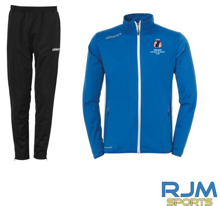 Milton FC Uhlsport Essential Classic Tracksuit Set Azure Blue/White