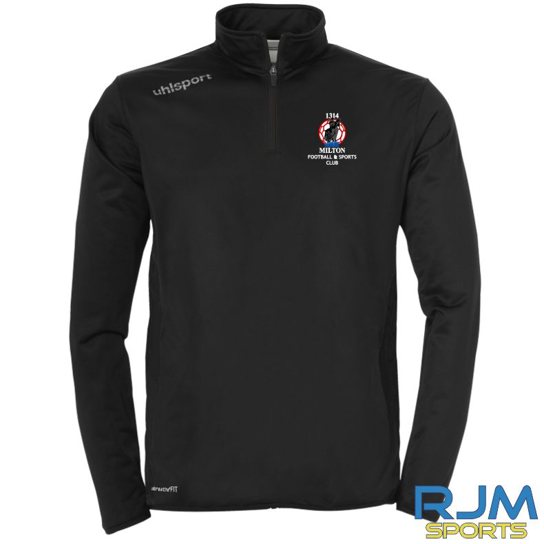 Milton FC Uhlsport Essential Quarter Zip Black/White