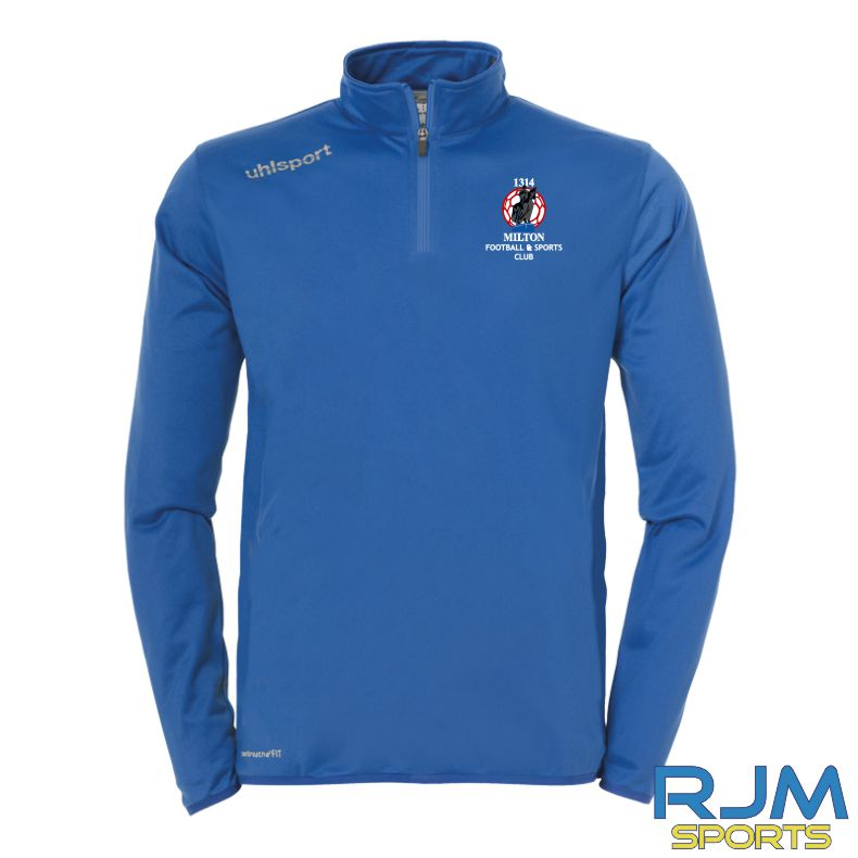 Milton FC Uhlsport Essential Quarter Zip Azure Blue/White